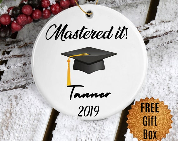 Graduation Gift Custom Masters Graduation Ornament Masters Degree Graduate Ornament Keepsake Maters Grad Christmas Gift Christmas Ornaments
