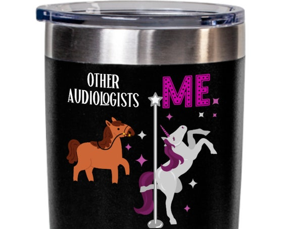 Unicorn audiologists tumbler birthday gifts for audiologist gift for women tea cup appreciation gifts funny coffe mugs