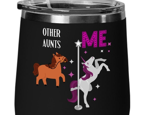 Unicorn Gift for Aunt Gift Unicorn Wine Glass Unicorn Birthday Gift for Auntie Wine Gift for Women Unicorn Cup Gift for Her Aunt Mug