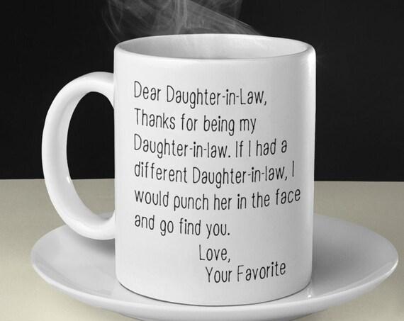 Daughter in Law Gift for Daughter-in-Law Mug Funny Birthday Gift for Daughter In Law Gifts Personalized DIL Mug Custom Gift Gag Gift for Her