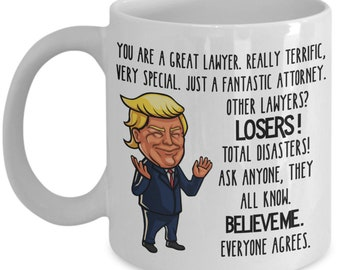 Trump Mug for Lawyer Gifts for Men Mugs for Attorney Gift for Women Law Student Mug Donald Trump MAGA Funny Coffee Mug Conservative Gift