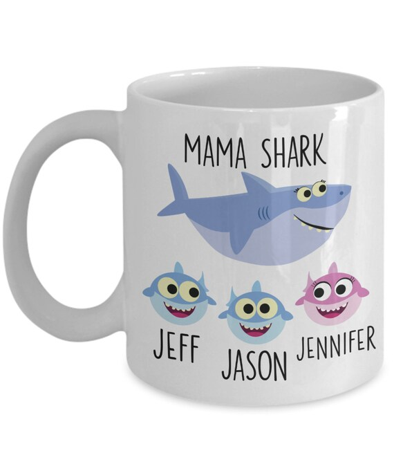Personalized Mama Shark Gift Mommy Shark Mug for Mothers Day Gift Baby Shark Gift for Mom From Daughter Gift From Son Mom Mug from Husband