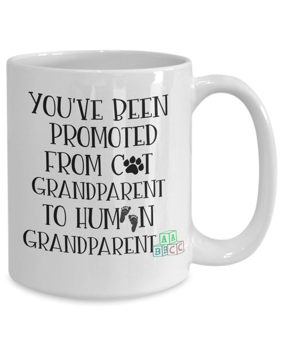 SAME DAY SHIPPING - Cat Grandparent To Human Grandparent Pregnancy Announcement Grandparents Mug - Last Minute Gift for Christmas