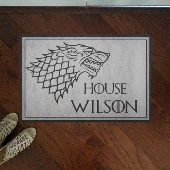 Custom Doormat Inspired by Game Of Thrones Personalized Front Door Decor GoT Funny Doormat Outdoor Welcome Mat For Housewarming Gift