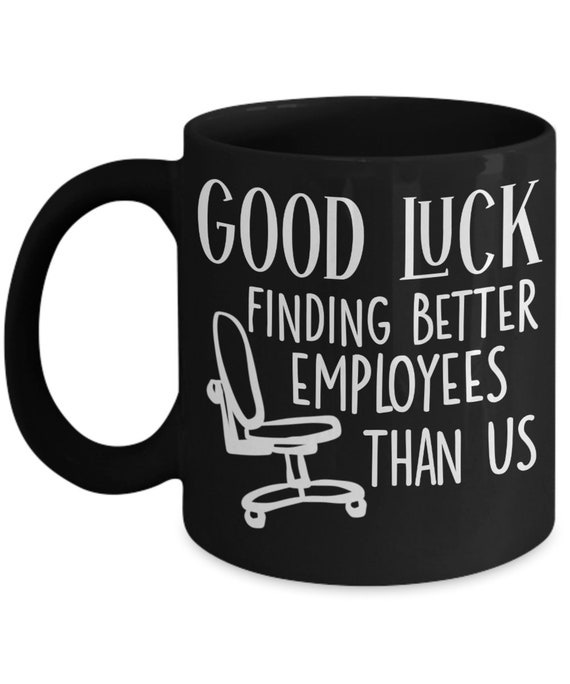 SAME DAY SHIPPING - Boss Leaving Gift For Boss Good Luck Gift for Men Farewell Gift  - Last Minute Gift, Funny Coffee Mug - Rush Delivery