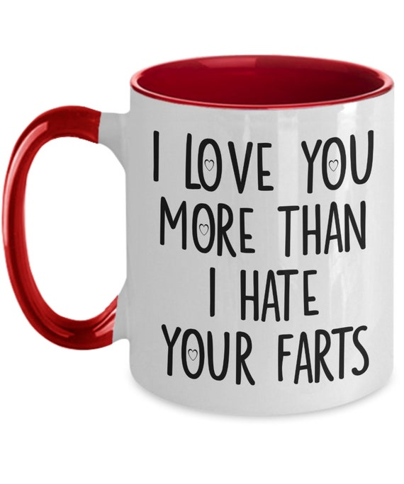 I Love You More Than I Hate Your Farts Mug Funny Valentines Day Anniversary Gift For Husband Boyfriend Tea Cup Gag Gifts For Men And Women