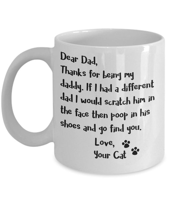 Cat Dad Gift for Men Personalized Gifts For Cat Dad Mug For Dad Gift From the Cat Gifts For Fathers Day Mug Pet Lover Gift for Pet Dad Mug