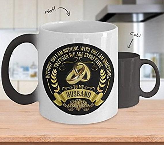 Husband Mug Husband Sentimental Color Changing Mug Together We Are Everything Anniversary Gift for Him Valentines Day Gift for Husband