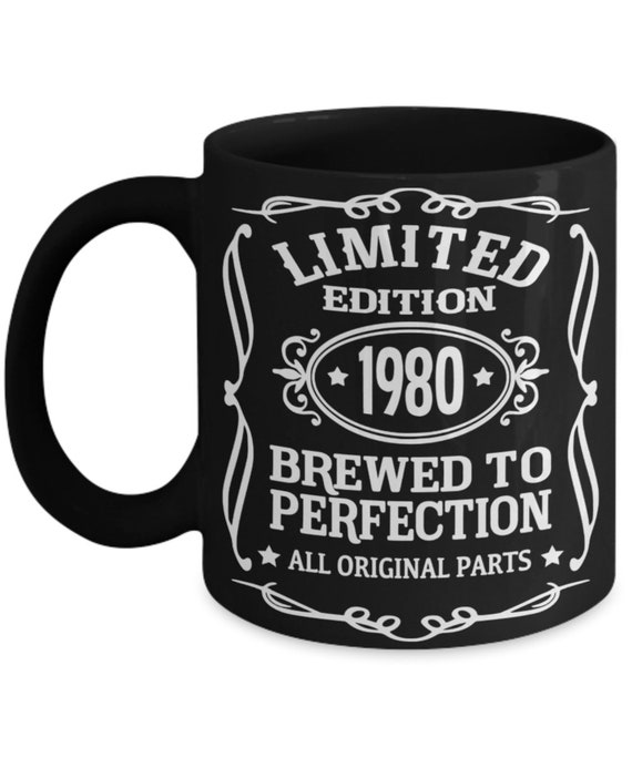 40th Birthday Gifts for Women 1980 Brewed To Perfection Mug Cheers To 40 Years Fortieth Birthday Gift for Husband Mug for Forty Years Old