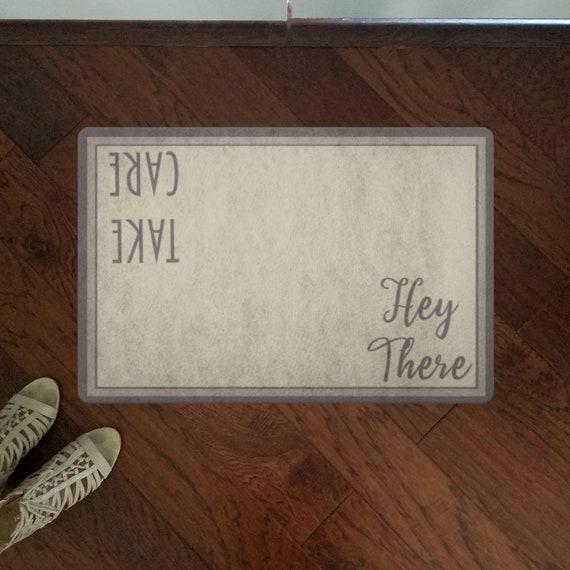 Hey There Take Care Door Mat Front Door Decor Funny Doormat Indoor Outdoor Welcome Mat For Housewarming Gift Front Door Mat