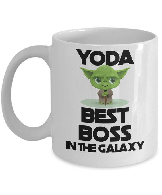 Yoda Best Boss In The Galaxy Mug for Boss Thank You Gift for Boss Day Boss Lady Gift for Her Boss Mug for Manager Boss Gift for Him Yoda Mug