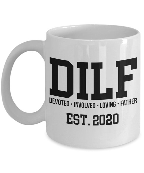 Pregnancy Reveal Mug New Dad Gift for Husband Gifts for Him DILF Mug Est 2020 First Time Dad Gifts for Dad To Be Baby Shower Gift New Daddy