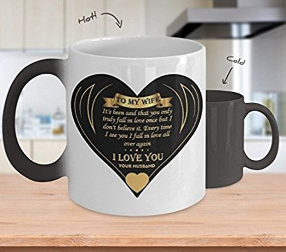 Anniversary Gift for Wife Mug for Wife Gift From Husband I Love You Mug for Women Gifts Color Changing Mug Sentimental Gift Romantic Gift