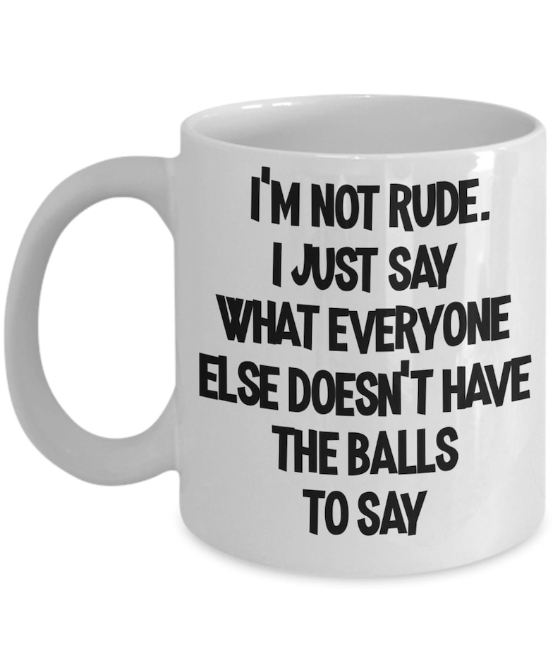 Rude Mug For Coworker Gift Men Funny Office Gifts