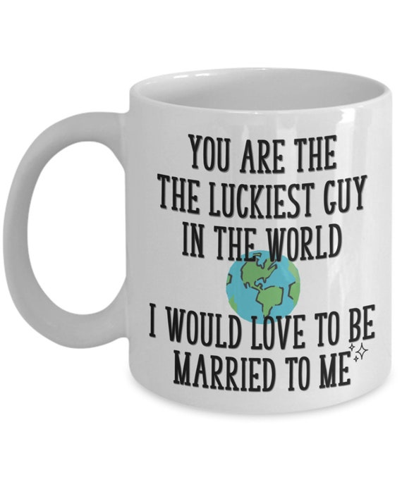 Husband Mug from Wife Valentines Day Gift for Him You Are the Luckiest Guy in the World Coffee Cup Funny Anniversary Gift Birthday Gag Gifts