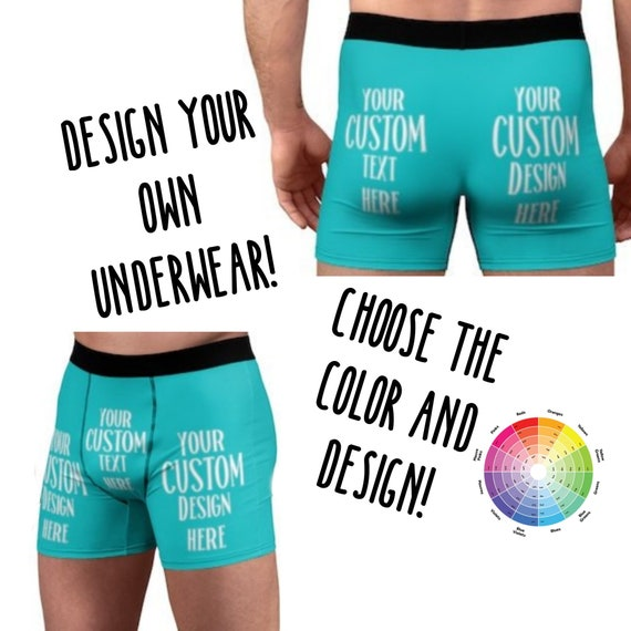 0f0ccadb6 ... Custom Mens Underwear Personalized Boxer Briefs for Boyfriend Gift Sexy  Underwear for Husband Gift Anniversary Gift