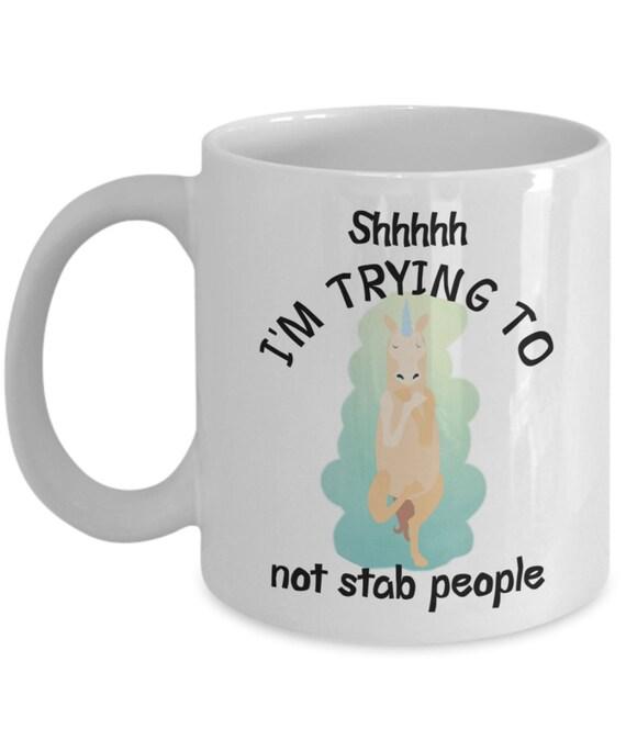 Unicorn Mug Birthday Gift for Friend Introvert Mug Zen Unicorn Yoga Gifts for Coworker Funny Mug Unicorn Gifts for Men Gag Gifts for Women