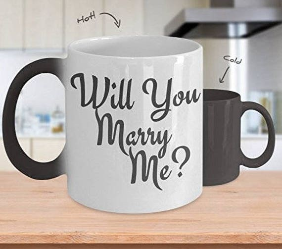 Marriage Proposal Mug for Girlfriend Gifts for Her Will You Marry Me Romantic Gift for Women Engagement Proposal Ideas Fiance Gift for Men