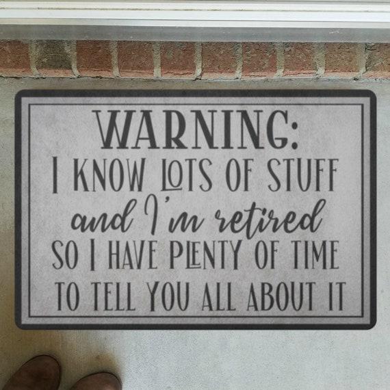 Retirement Gift Door Mat Front Door Decor Funny Doormat - I'm Retired - Outdoor Welcome Mat For Housewarming Gift Front Door Mat