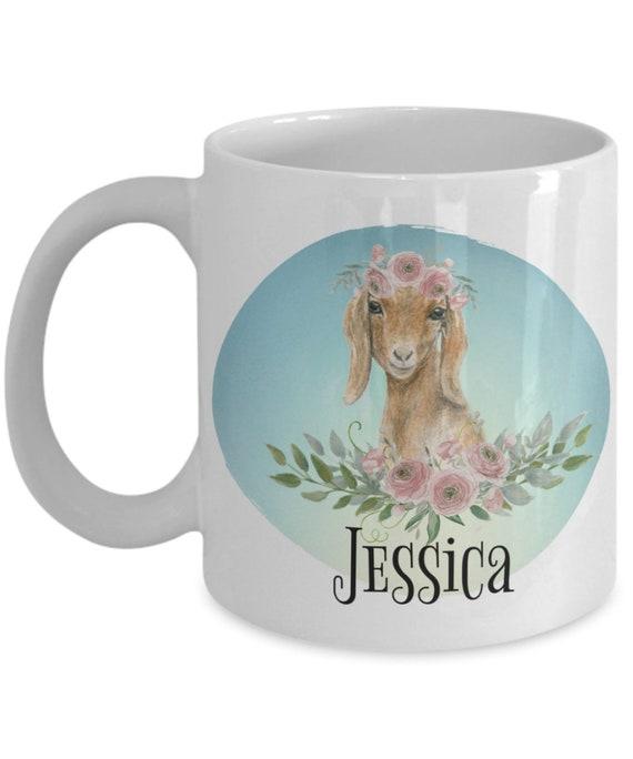 Goat Mug Custom Goat Gifts for Goat Lovers Cute Goat Gift for Women Personalized Goat Cup for Animal Lover Goat Art Gift for Farmer