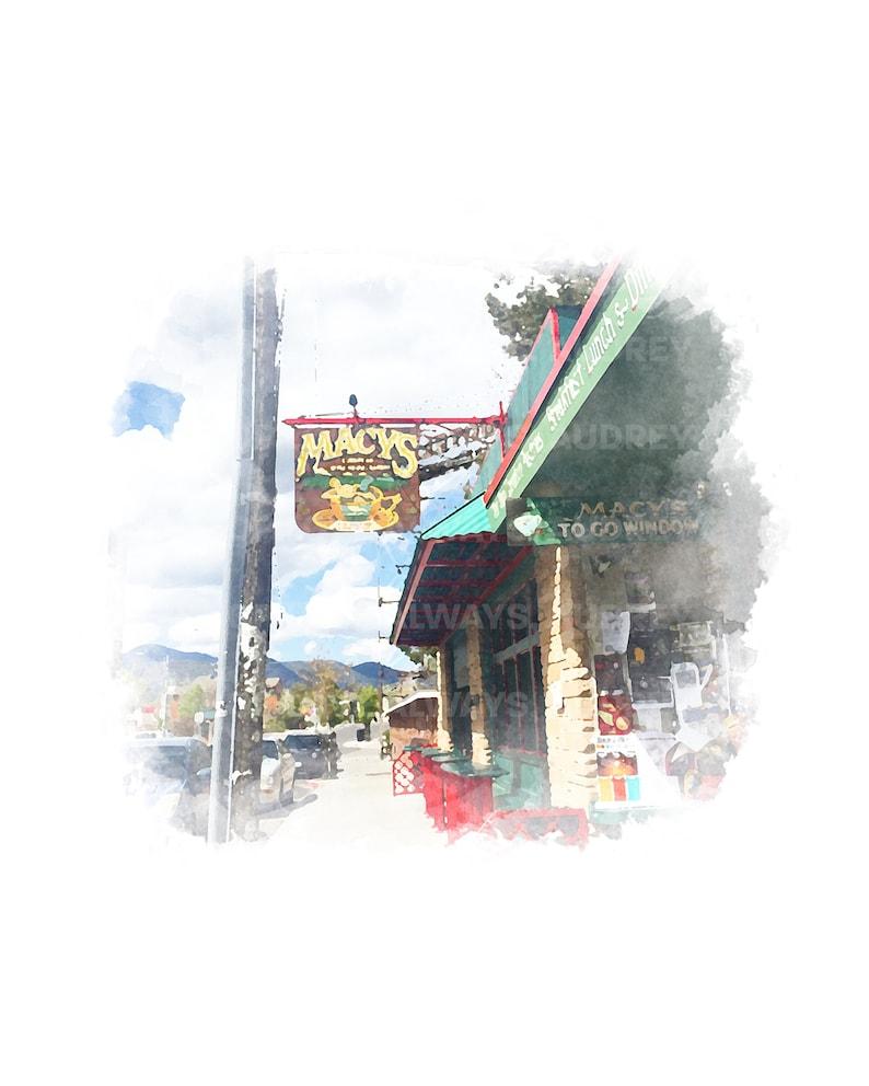 Macys Coffee House Flagstaff Arizona Watercolor Print image 0