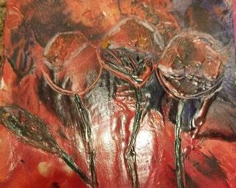 Trio original encaustic art