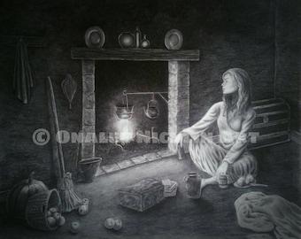 Cinderella, Classic Fairytale Art, Fantasy Art