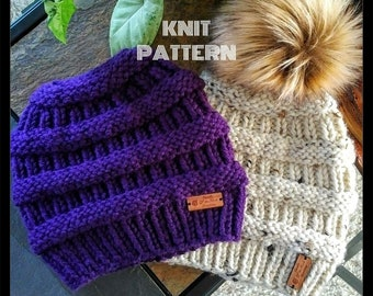 Knit Messy Bun Hat Pattern 3addd6b0c91