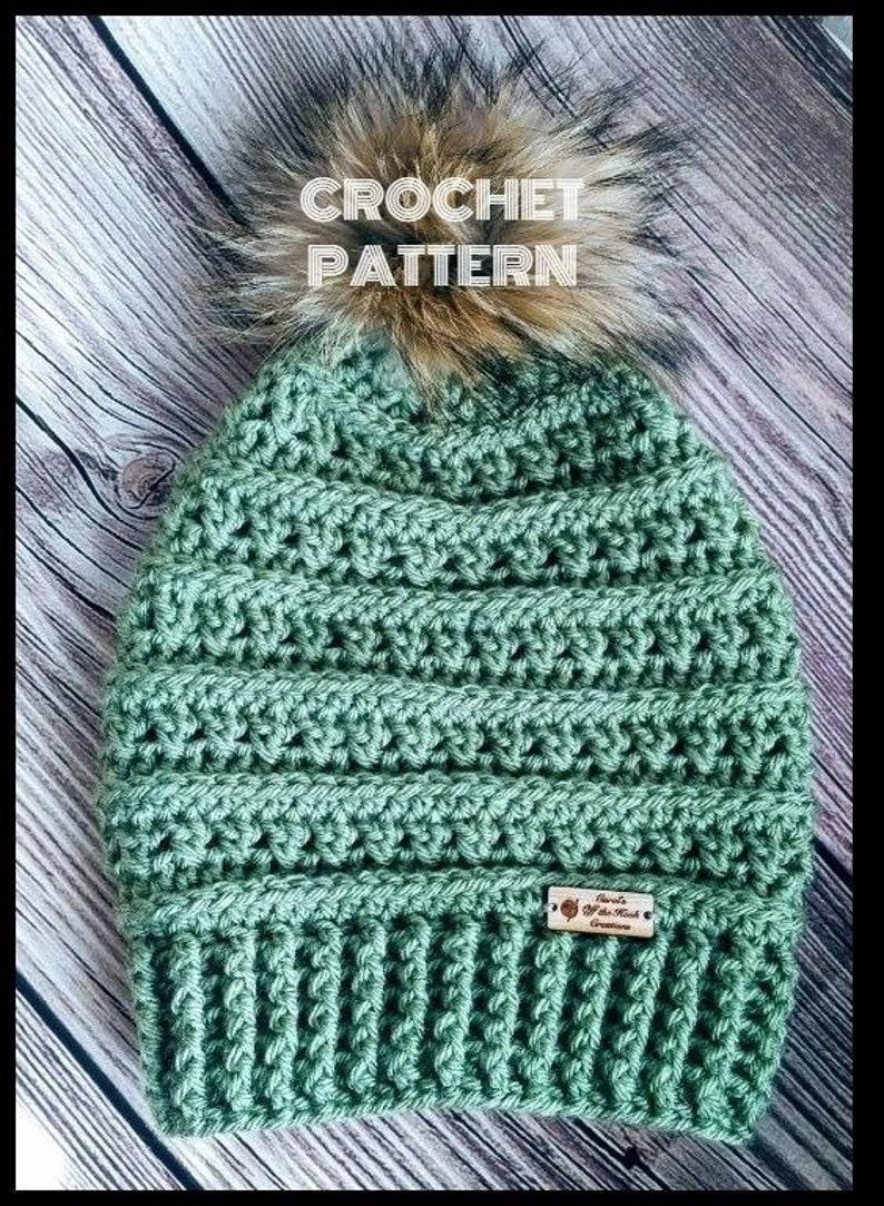 80bd396b657 Crochet Hat Pattern Crochet Beanie Pattern Crochet Slouchy