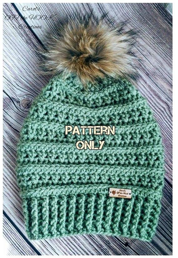 Crochet Hat Pattern Crochet Beanie Pattern Crochet Slouchy | Etsy