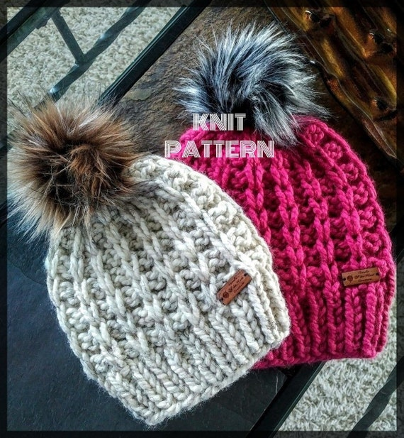 Knit Hat Pattern Knitted Hat Pattern Knit Beanie Pattern  96682271e10
