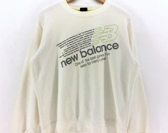5fc37b8b17141 Vintage New Balance Big Logo Sweatshirt Medy Size Retro Rap | Etsy