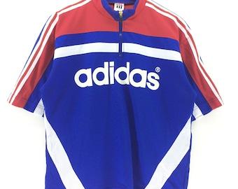 Vintage Adidas Multicolor Spell Out Large Size T-shirt Color Block Retro Hip Hop Fashion Rap Tees Swag