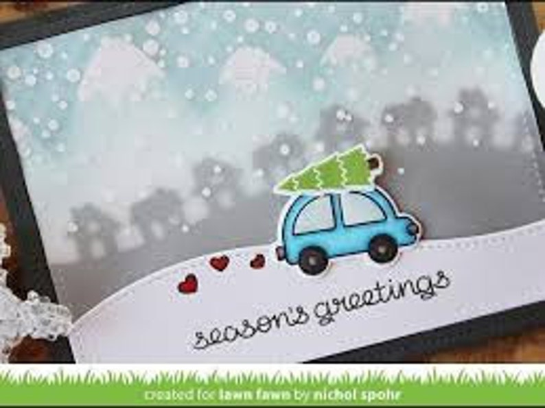 Two Item Bundle Stamps and Dies Lawn Fawn Home for the Holidays