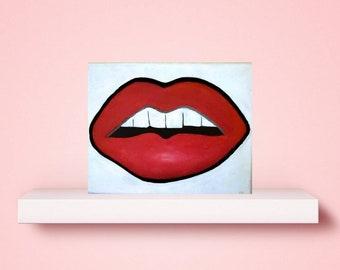 Pop art on canvas, chic