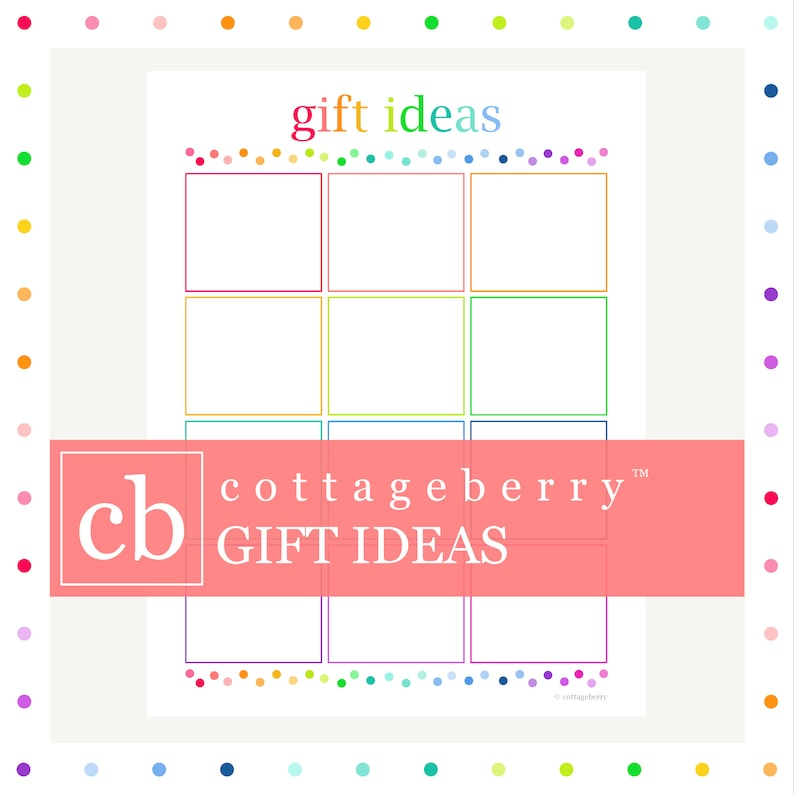 Gift List Printable Christmas Birthday