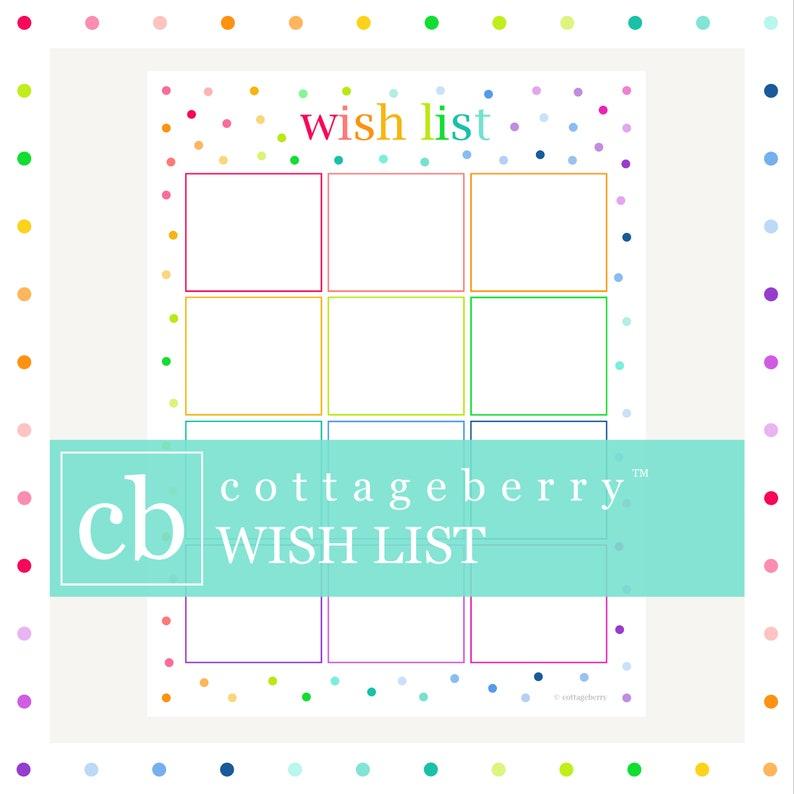 Wish List Christmas Gift Printable