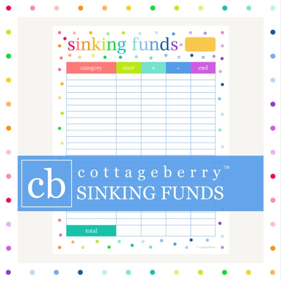 sinking funds envelope system cash envelope financial etsy