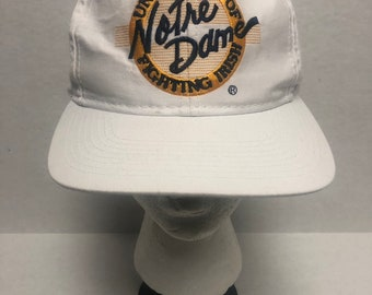 11194347 Vintage 80's/90's University of Notre Dame Fighting Irish Snapback by  Officially Licensed by Notre Dame Free Shipping