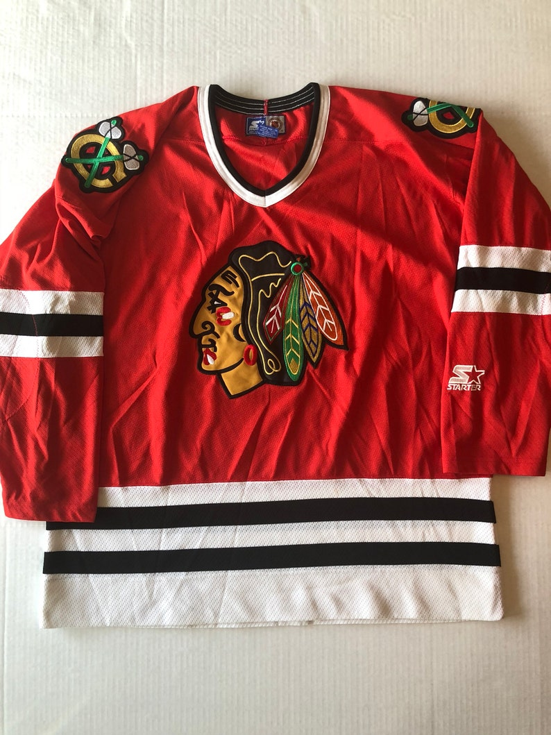 Chicago Blackhawks NHL Starter Jersey Vintage XL 90 s  80da08825