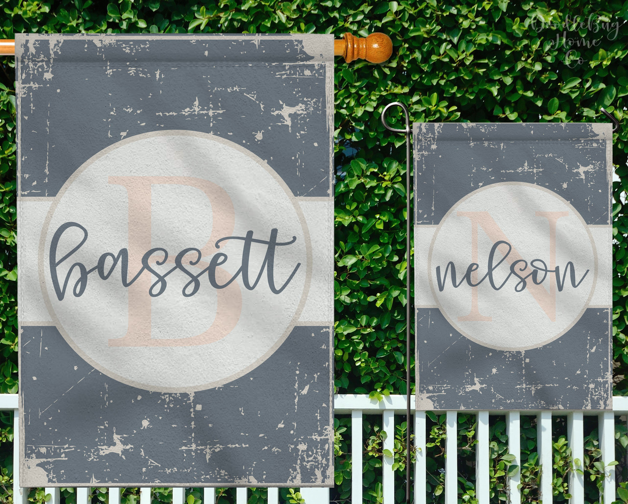 Monogram Last Name Flag Personalized Garden Flag Pick Your Etsy