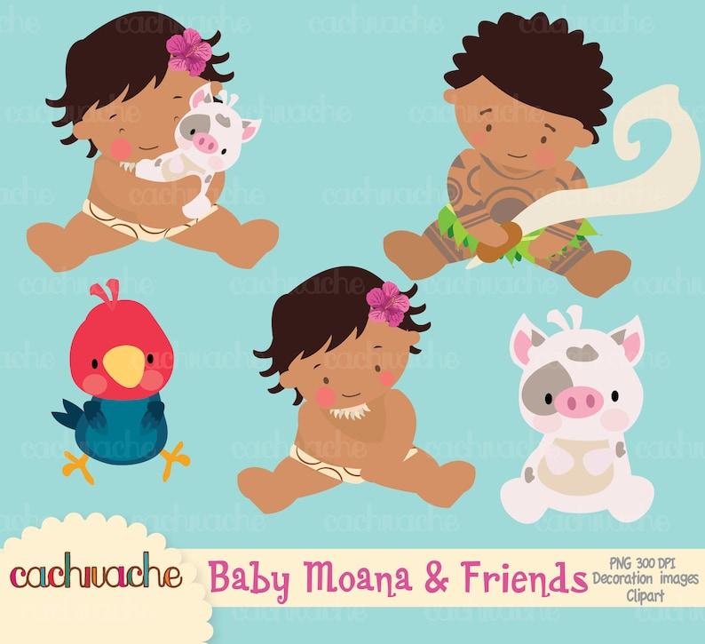 Moana clipart, baby moana, Maui, hei hei and pua PNG & JPG HD images,  Instant download-Imagenes para descargar - Vaiana clipart