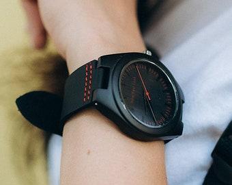 Engraved watch, Man wood watch, Mens watch box, Minimalist watch, Hand made watch, Monogrammed watch, Wooden watch wrist, Wood unisex watch