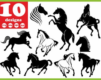 Horse Svg File Head Digital Racing Download Silhouette Vector Decal For Cricut Clipart Bundle Vinyl Stickers Images Sign Monogram Eps Dxf
