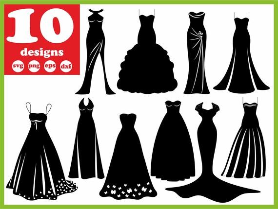 Bridesmaid Dress Svg File Weddeing Digital Bridal Download Etsy