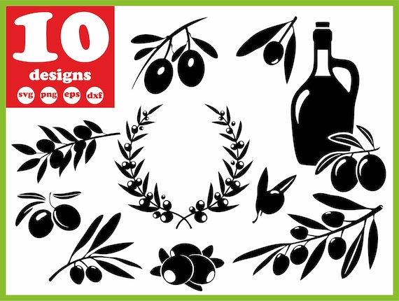 Olive Svg File Tree Vector Wreath Decal Leaf For Cricut Branch Etsy