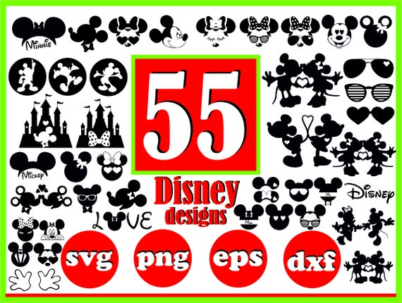 Disney Svg File For Cricut Disney Svg Bundle Disney Pins Svg Etsy