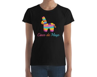 Cinco de Mayo Mexican Party Pinata Top Women's Short Sleeve T-Shirt