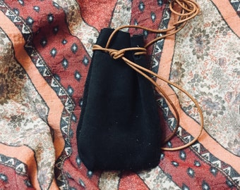 Leather Medicine Bag / Neck Pouch