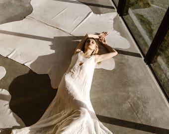 A Line Embroidered Chiffon Wedding Dress Bridal Gown by Australian L'eto Bridal - Piece 2